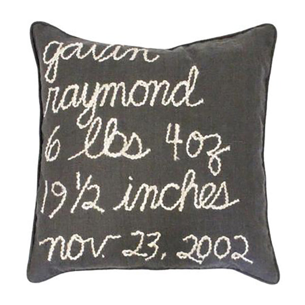 oh baby! Personalized Birthday Pillow