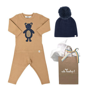 oh baby! Ragdoll Teddy Bear Gift Set - Honey