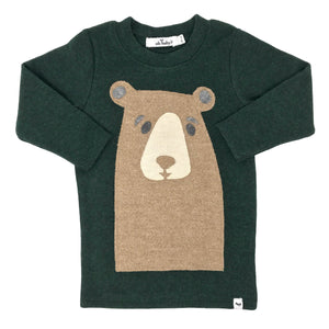 oh baby! Long Sleeve Tee - Boo Boo Bear Tan - Forest