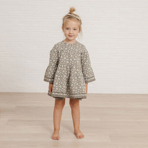 Quincy Mae - Organic Belle Dress - Eucalyptus