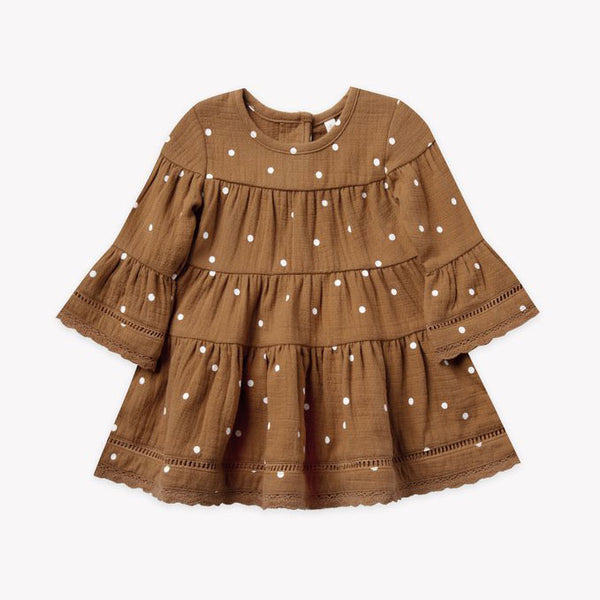 Quincy Mae - Organic Belle Dress - Walnut