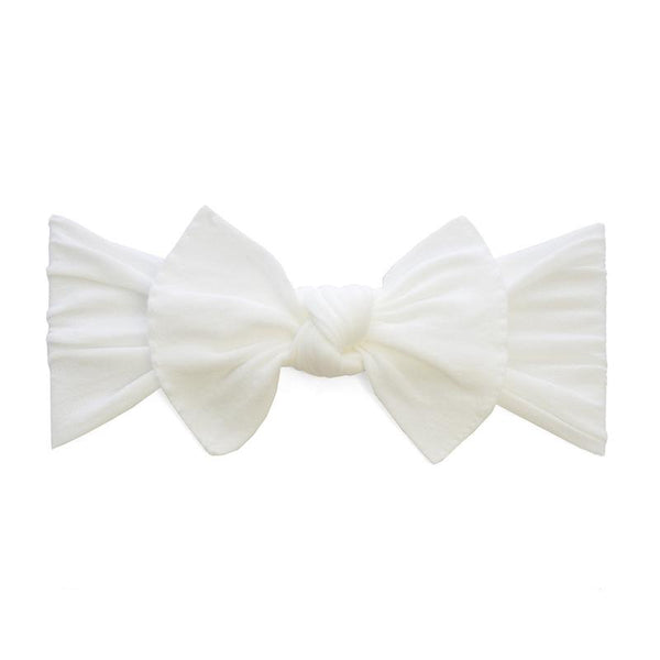 Knot Bow Headband - White - oh baby!