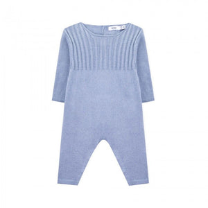 Cashmere Long Sleeve Knitted Romper - Blue