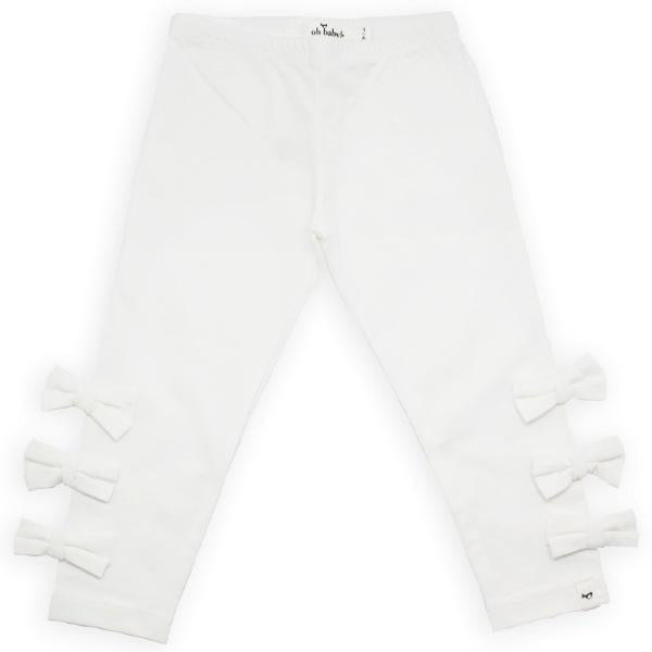 oh baby! Bow Leggings - Cream