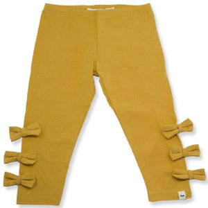 oh baby! Bow Leggings - Mustard