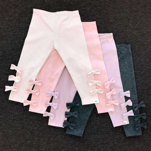 oh baby! Bow Leggings - Petal