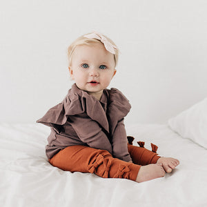 oh baby! Bow Leggings - Rust