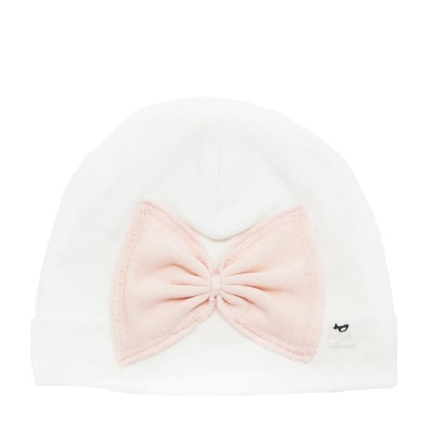 oh baby! Hat - Apricot Ruffle Bow - Cream