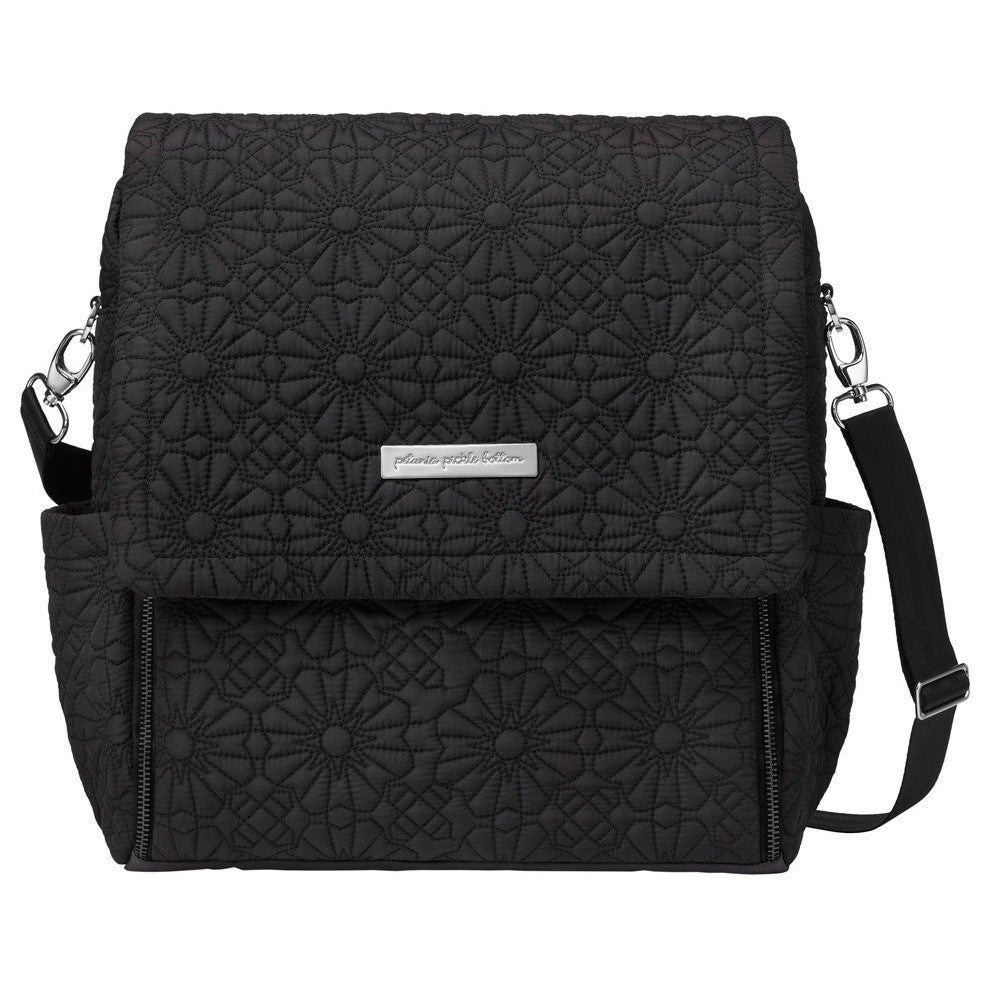 834ab4258490 Petunia Pickle Bottom Boxy Backpack Embossed Bedford Avenue Stop - oh baby!