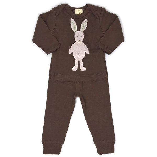 oh baby! Two Piece Set - Ragdoll Bunny - Brown