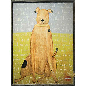 Sugarboo Brown Boy Dog Framed Art Print - oh baby!