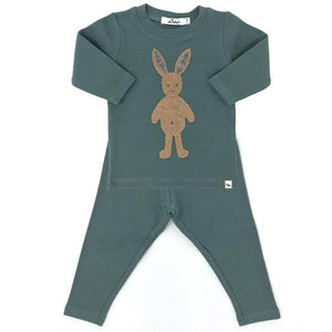 oh baby! Two Piece Set -  Ragdoll Bunny Tan - Sea