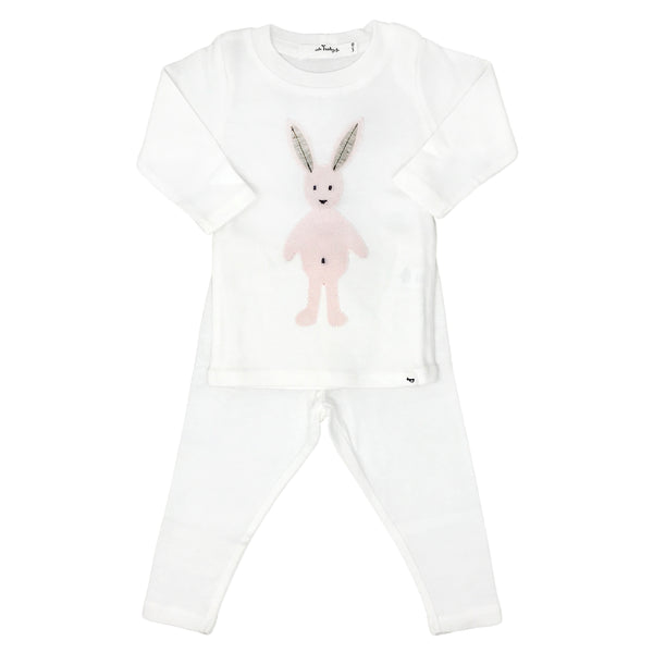 oh baby! Two Piece Set -  Ragdoll Bunny Pale Pink - Cream