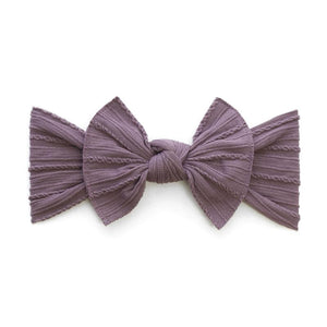 Cable Knit Knot Bow Headband - Lilac