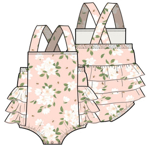Angel Dear Magnolia Muslin Sunsuit - Pink