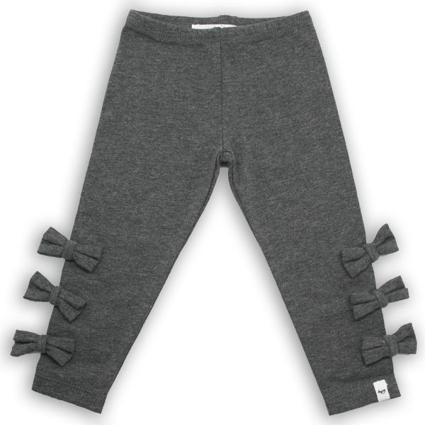 oh baby! Bow Leggings - Charcoal