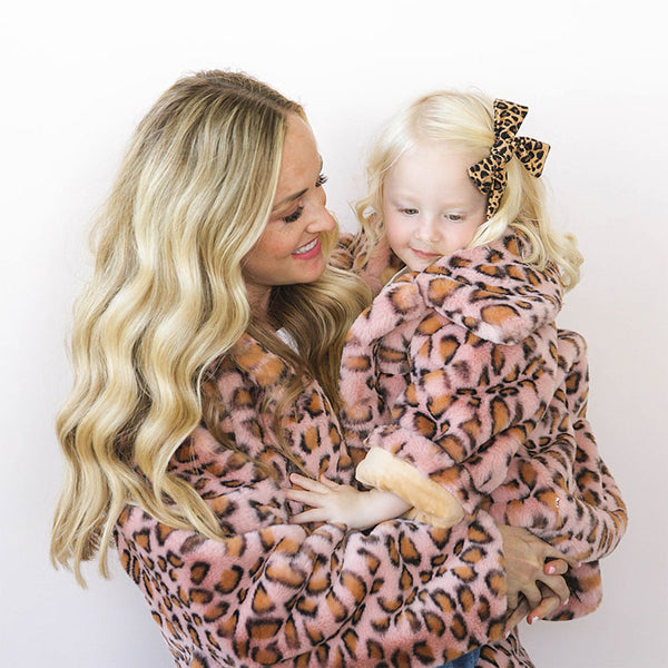 oh baby! Faux Fur Blush Cheetah Leopard Adult Jacket