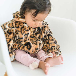 oh baby! Tahoe Girls Jacket - Tan Cheetah