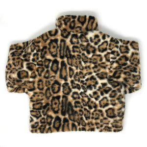 oh baby! Tahoe Jacket - Faux Fur Tan Cheetah Leopard Print - Adult
