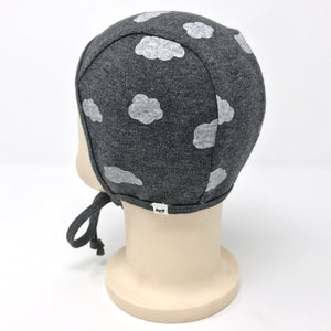 oh baby! Pilot Cap - Clouds - Charcoal