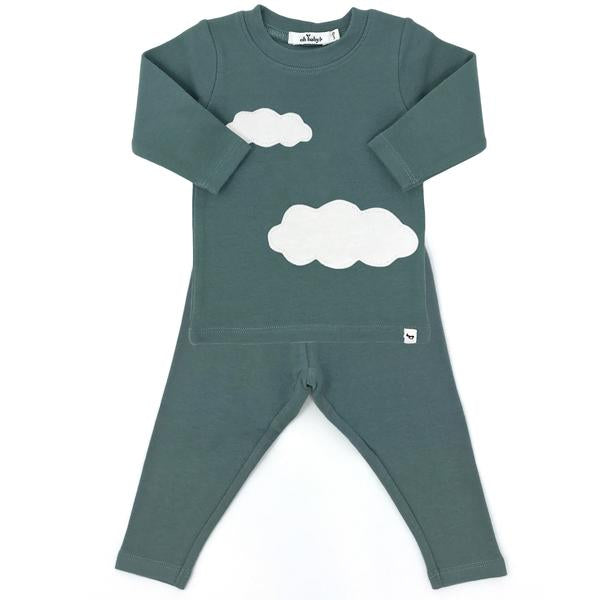 oh baby! Two Piece Set - Clouds - Sea