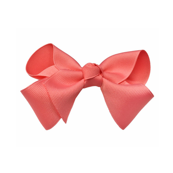 oh baby! Grosgrain Large Ribbon Bow Hair Clip - Coral - oh baby!