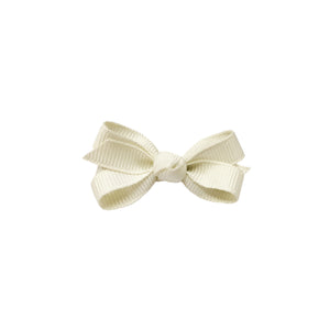 oh baby! Grosgrain Small Ribbon Bow Hair Clip - Cream - oh baby!