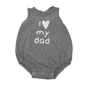 "oh baby! Tri-Blend Bubble - ""I Love My Dad"" White Ink - Steel"