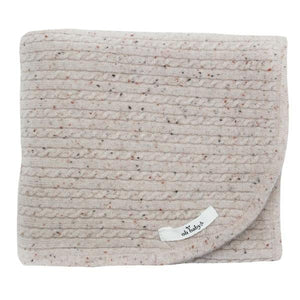 oh baby! Cable Knit Cashmere Blanket - Blush - oh baby!