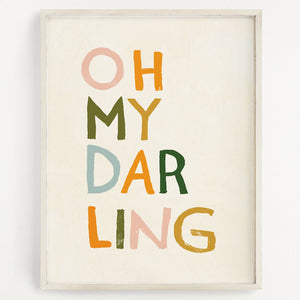 Clementine Kids Art Print - Oh My Darling - 11 x 14