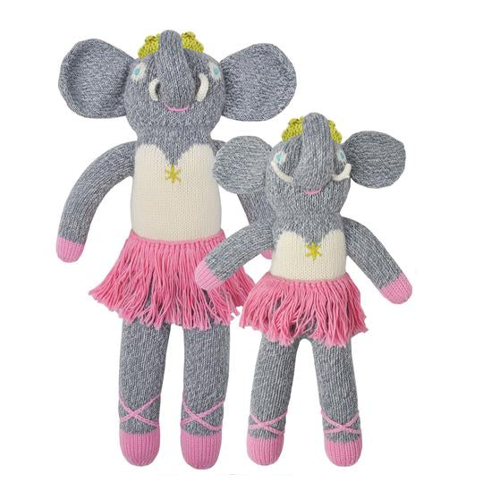 Blabla Knit Doll, Josephine the Elephant - Mini Size - oh baby!