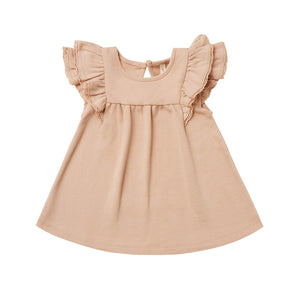 Quincy Mae Flutter Dress - Petal