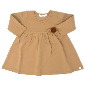 oh baby! Baby Dress with Pompoms - Honey
