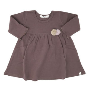 oh baby! Baby Dress with Pompoms - Lavender