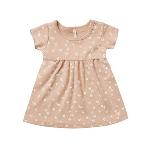 Quincy Mae Short Sleeve Baby Dress - Blossom Petal