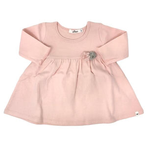 oh baby! Baby Dress with Pompoms - Pale Pink