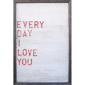 Sugarboo Every Day I Love You Vintage Framed Art Print - oh baby!