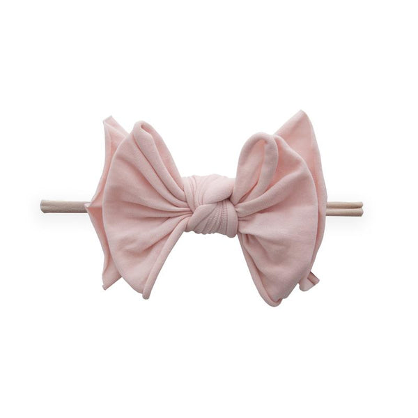 Fab-Bow-Lous-Bow Skinny Headband - Rose Quartz