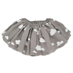 oh baby! Fairy Skirt - White Clouds - Gray