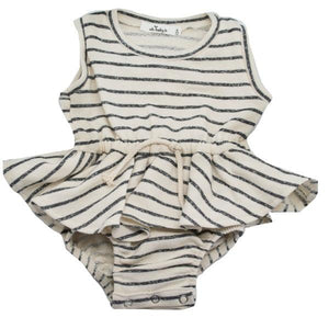 oh baby! Skirted Favorite Romper - Organic Stripe