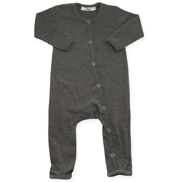 oh baby! Footie Onesie Bamboo - Charcoal Heather