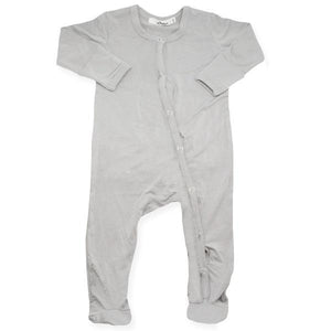 oh baby! Footie Onesie Bamboo - Stone