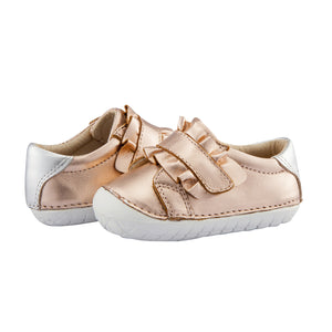 Old Soles Frill Pave Infant Baby Shoes Copper/Silver