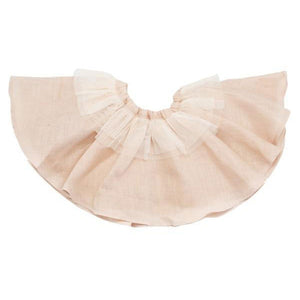 oh baby! Frill Linen Skirt with Ivory Trim - Apricot