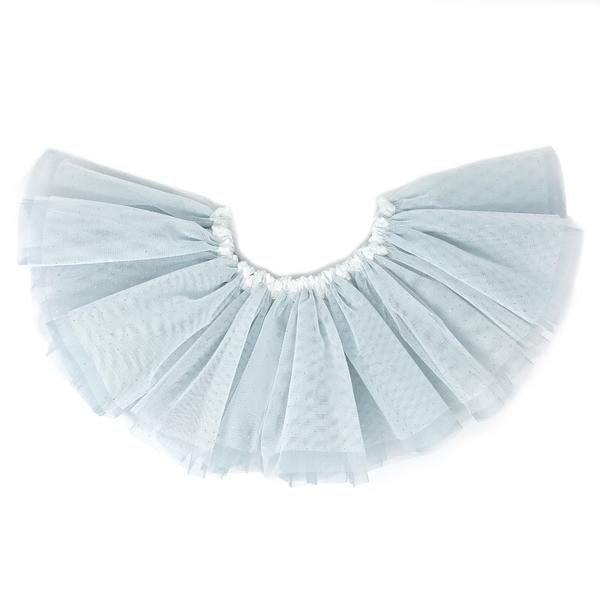 oh baby! Frill Tutu Ivory Gold Over Powder Blue Tulle