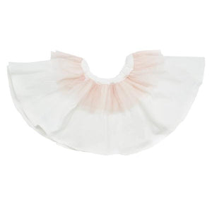 oh baby! Frill Knit Skirt with Apricot Mesh Trim - oh baby!