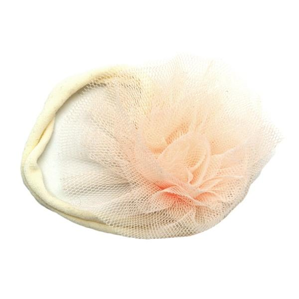 oh baby! Frill Flower Ecru Nylon Headband - Cream