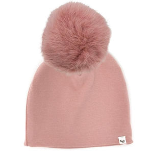 oh baby! Snap Fur Pom Hat Blush - Blush