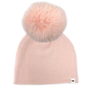 oh baby! Snap Fur Pom Hat Petal - Pale Pink