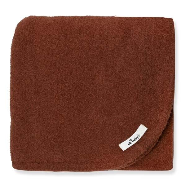 oh baby! Fuzzy Knit Blanket - Rust